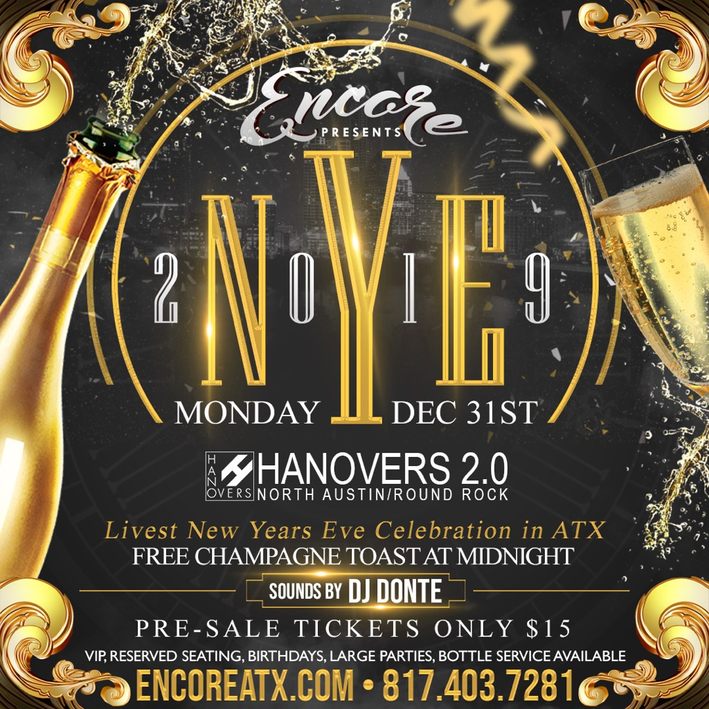 NEW YEAR EVE @ Hanovers 2 | Austin | Texas | United States