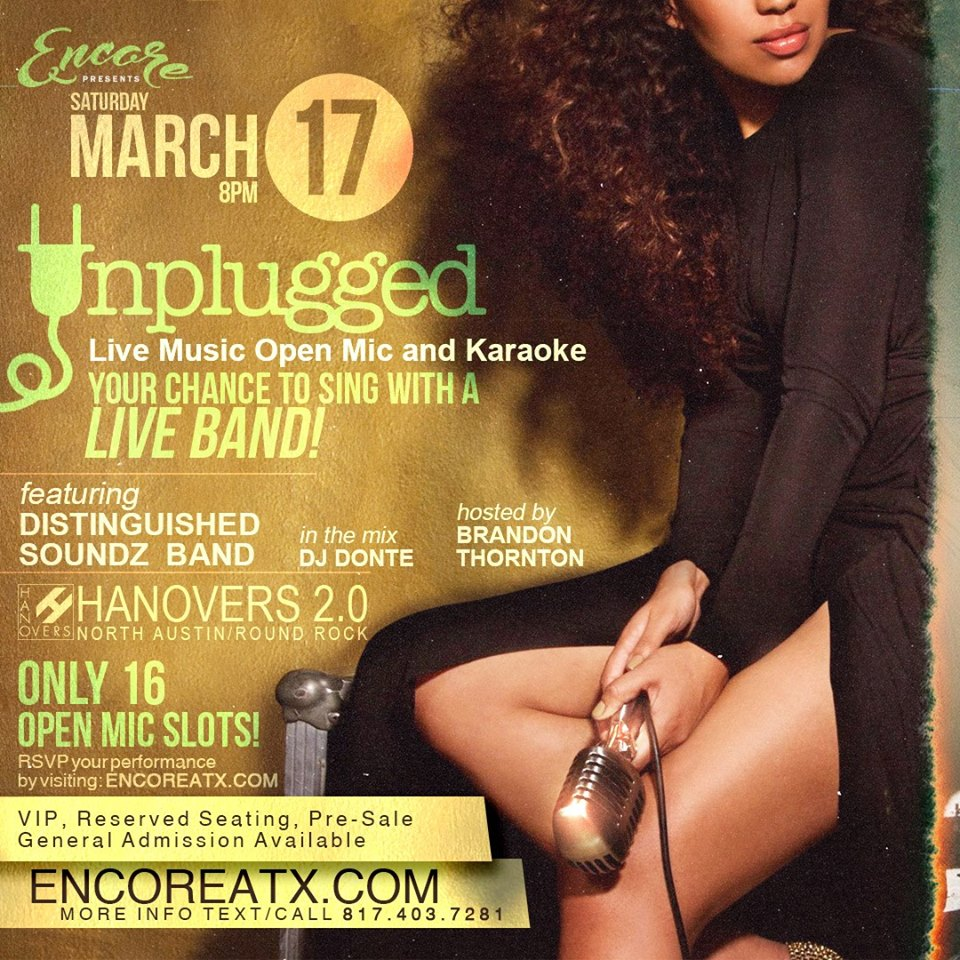 Encore ATX Unplugged - Live Music, Karaoke, DJ @ Hanovers 2.0 | Austin | Texas | United States