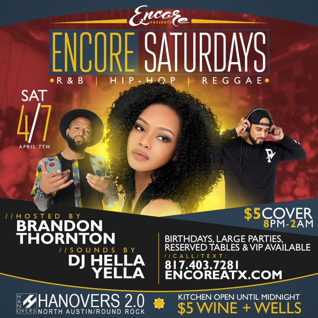 Encore Saturdays R&B, Hip-Hop & Reggae @ Hanovers 2.0 | Austin | Texas | United States