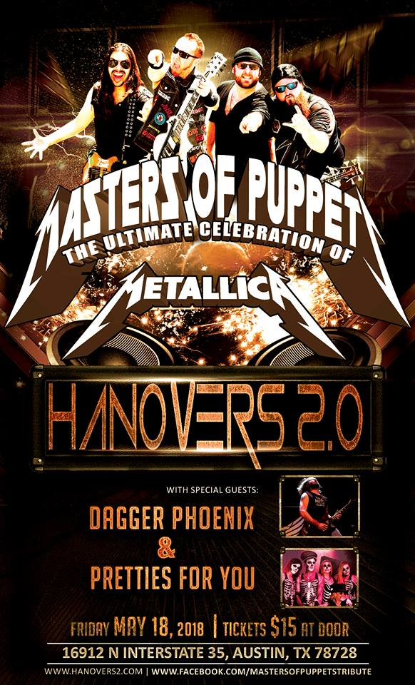 Metallica Celebration: Masters of Puppets ALL AGES @ Hanovers 2.0 | Austin | Texas | United States