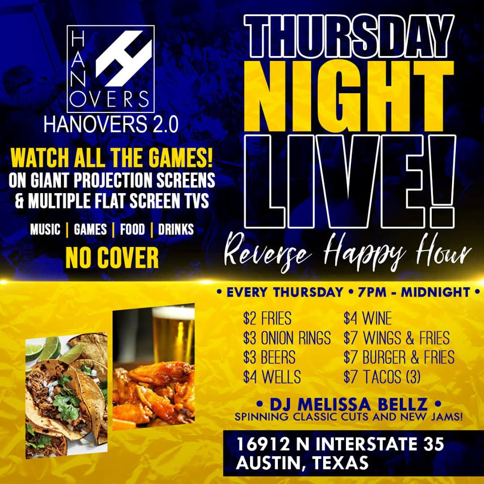 Thursday Night Live with DJ Melissa Bellz @ Hanovers 2