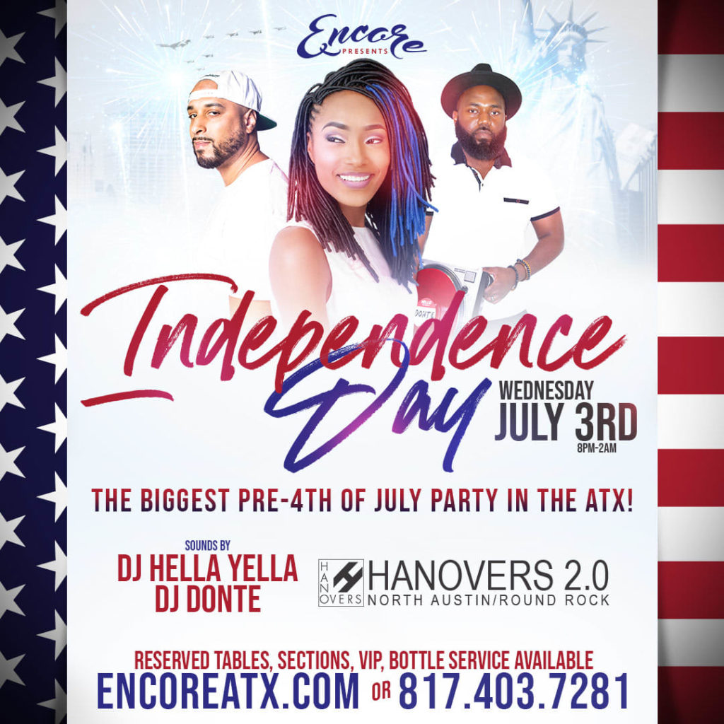 Encore Saturdays 7.3 @ Hanovers 2 | Austin | Texas | United States