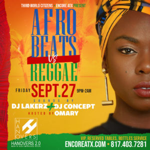Austin Reggae & AfroBeats Night @ Hanovers 2 | Austin | Texas | United States