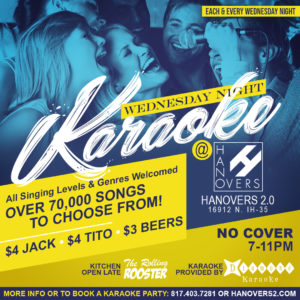 Karaoke Night + Drink Specials
