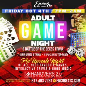 Adult Game Night & Trivia | 10.4