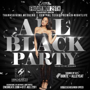 All Black Party | 11.29