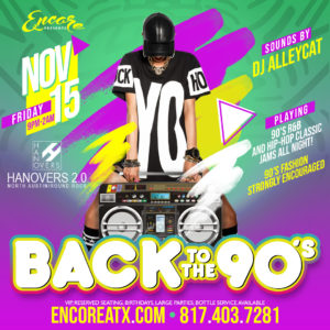 Back To The 90's Party | 11.15